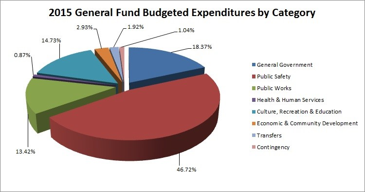 2015 General Fund Expenditures by Category