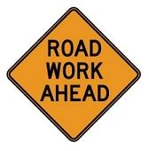 Road Work Ahead RED