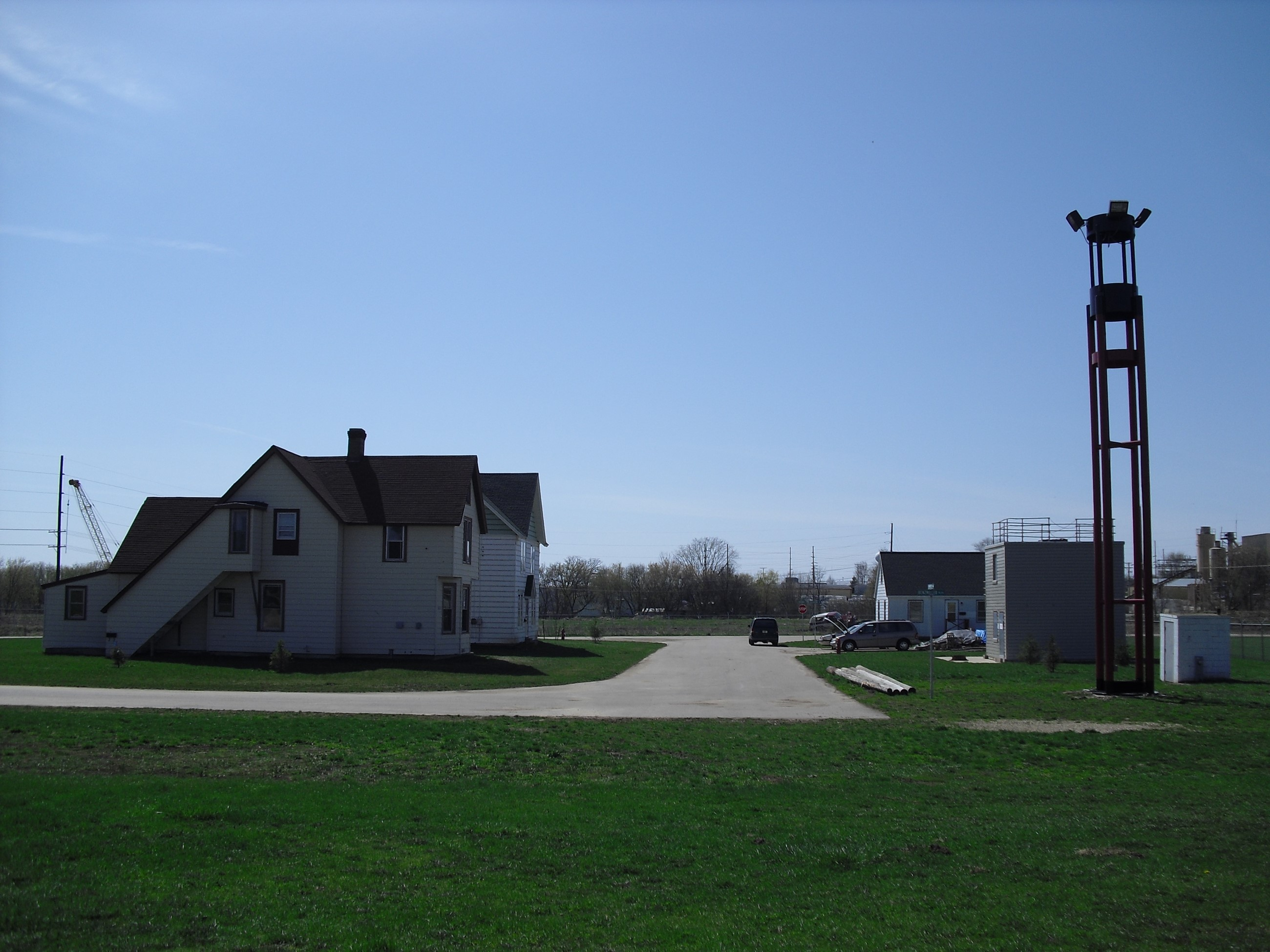 The training facility used by the Fire Department