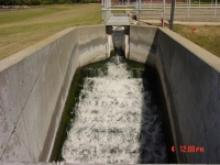 Water flowing through a drainage system