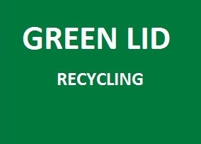 Green lid receptacles are for recycling