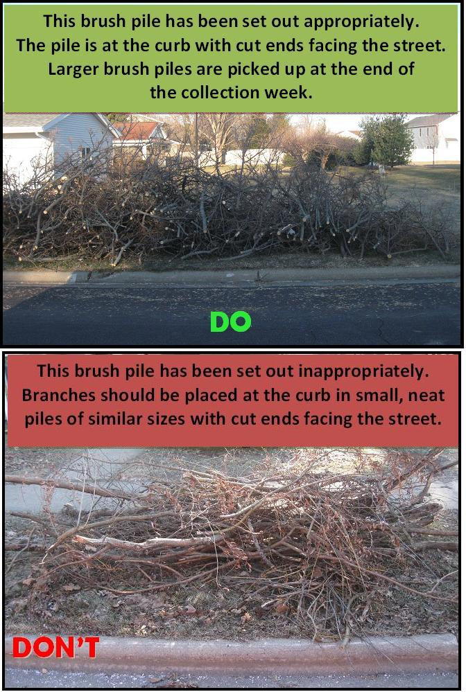Appropriate Inappropriate Large Brush Piles