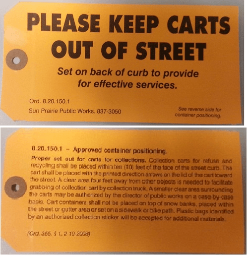 Orange Cart Tag