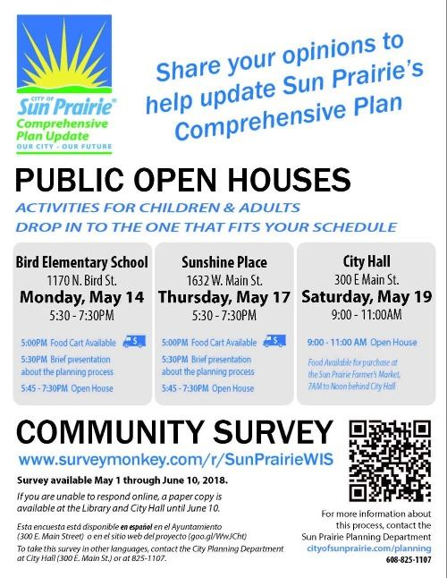 Community Survey Now Available; Open Houses Scheduled