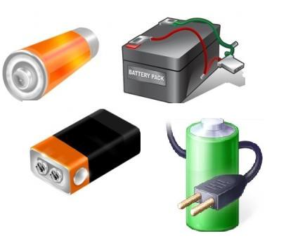 Variety of batteries