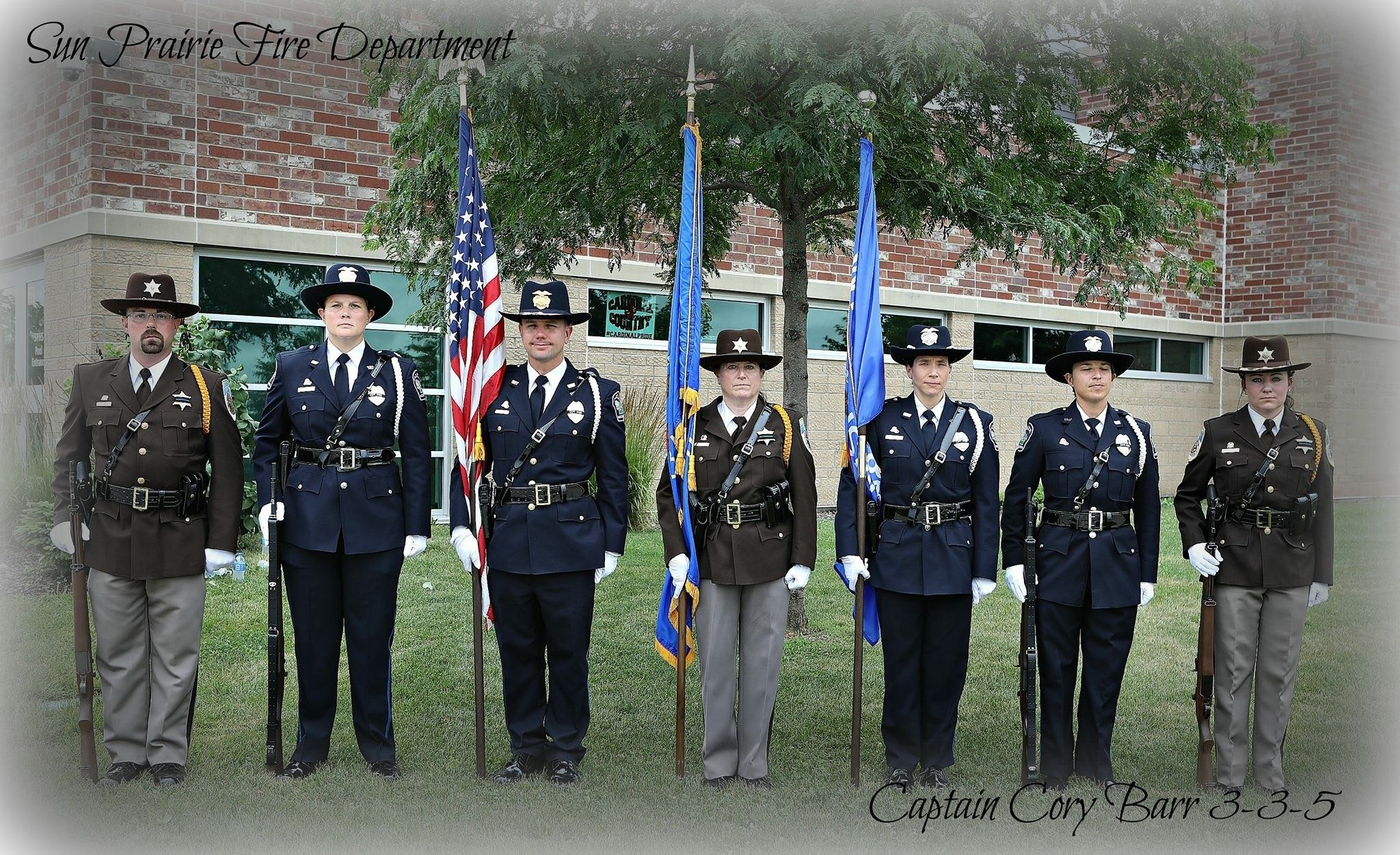 HONOR GUARD AT BARR FUNERAL