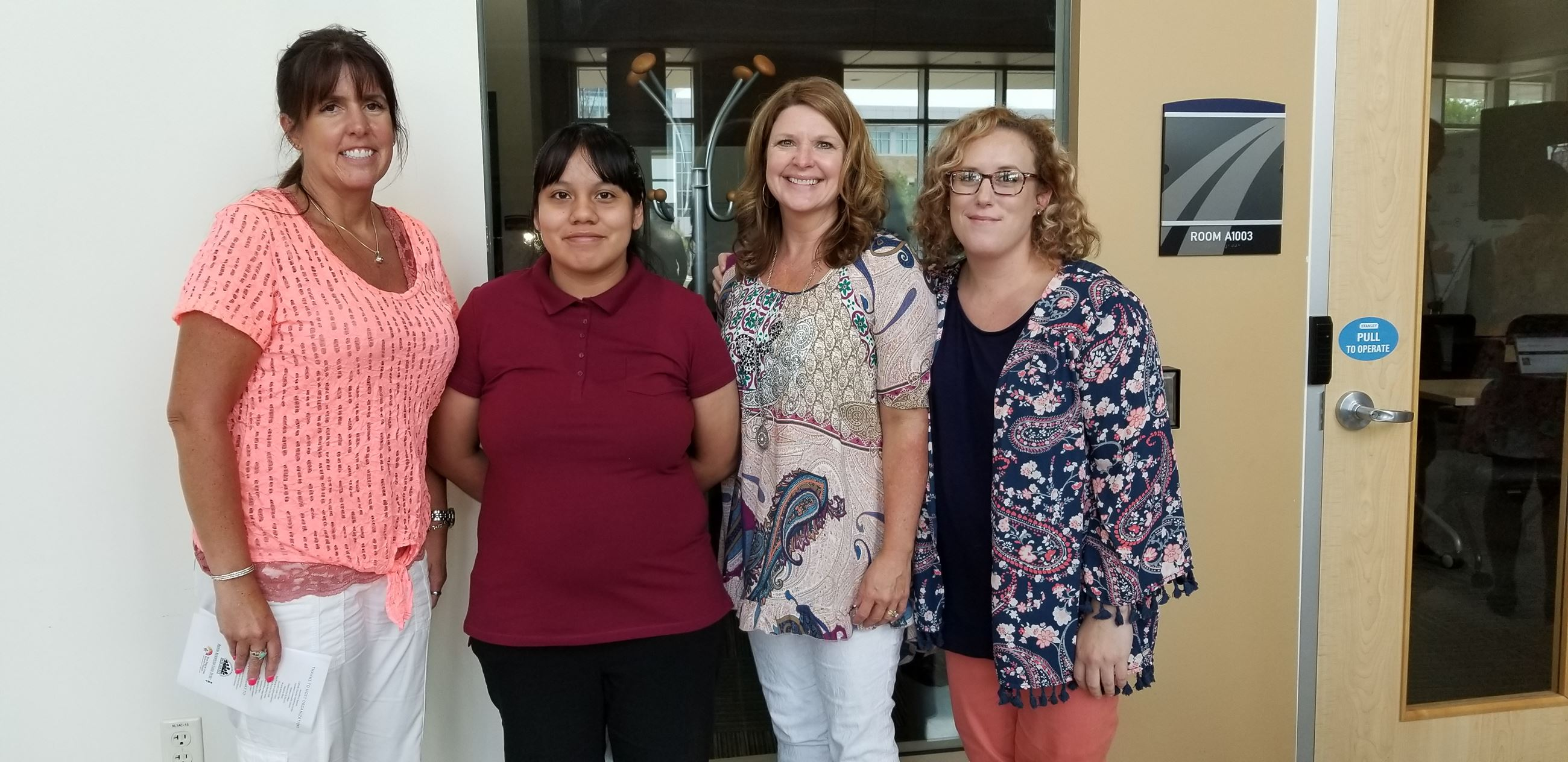 Admin. Assistant Tracy Heath, Intern Karla Contreras, Records Supervisor Kristine Pittz, Admin. Assistant Kristin Goehring