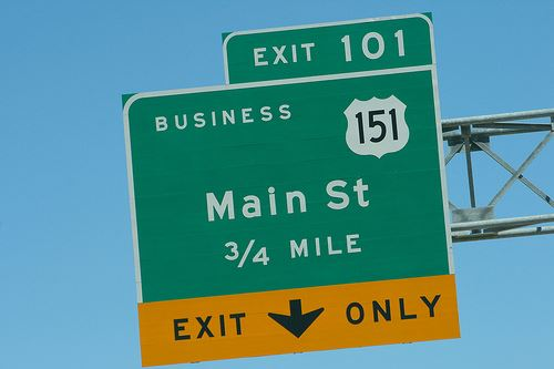 Main Street Exit Sign
