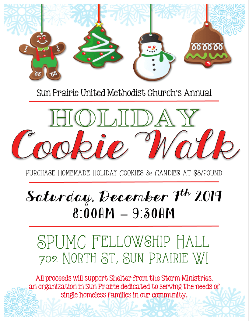 2019 Cookie Walk Flyer