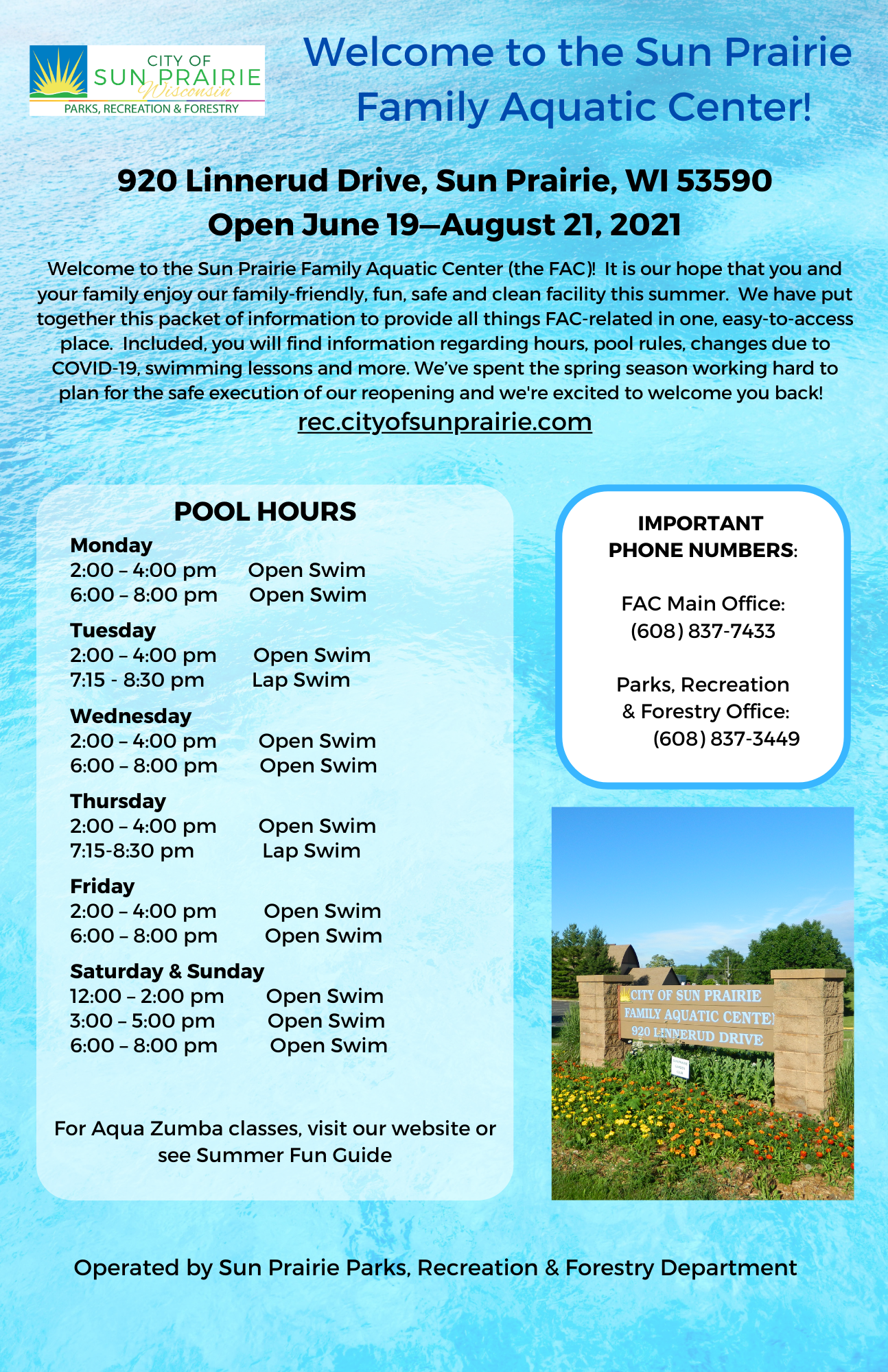 Aquatic Center Guide Cover Opens in new window