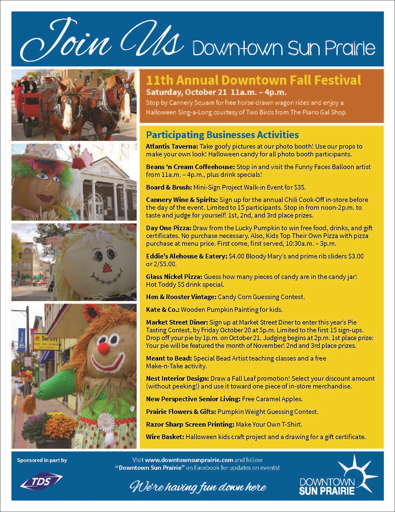 Fall Festival Participating Business Activities Flyer