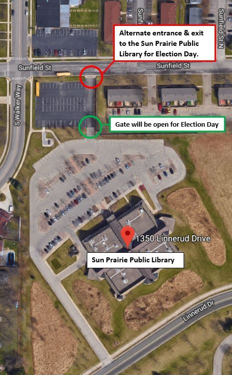 Alternate Access Point for Library for Election Day