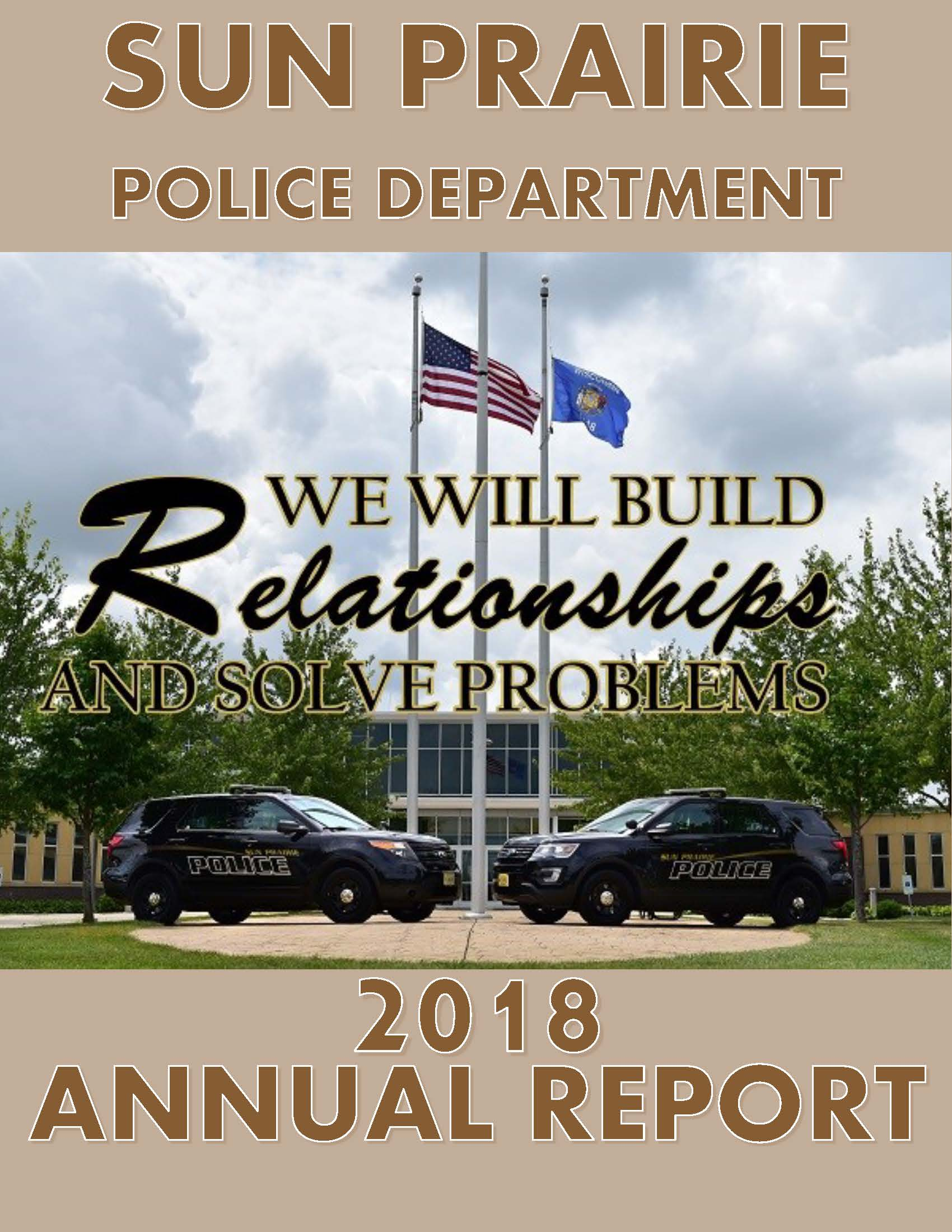 Cover 2018 Sun Prairie Police Annual Report Opens in new window