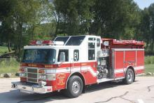 Engine 1 is a 2001 Pierce Lance