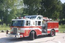 Engine 2 is a 1992 Pierce Lance