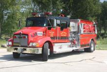 Engine 8 is a 2007 Pierce / Kenworth T300